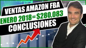 VENTAS AMAZON FBA ENERO 2018 $280,083