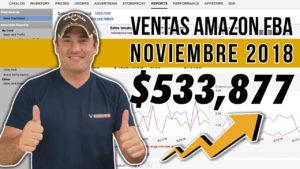 VENTAS AMAZON FBA NOVIEMBRE 2018